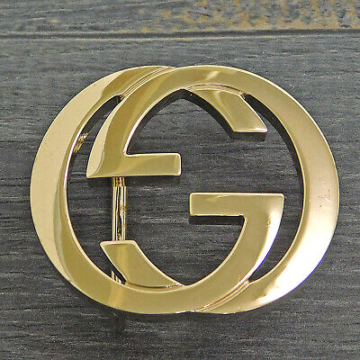 GUCCI Gold Plated Interlocking GG Logo Belt Buckle #1853be Rise-on