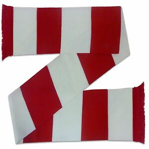 Arsenal Colours Football Gift Retro Bar Scarf Red White