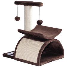 Cat Tree Scratcher Kitty Activity Center Pet Bed Rotatable Top Bar w/ Ball