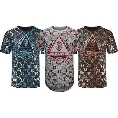 NEW Men Hip Hop Longline Money Cash XVII T-Shirt Music Sizes S-3XL Greek Blue