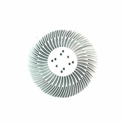 2pcs 90x25mm Round Spiral Aluminum Alloy Heat Sink For 1w-10w Led Silver White