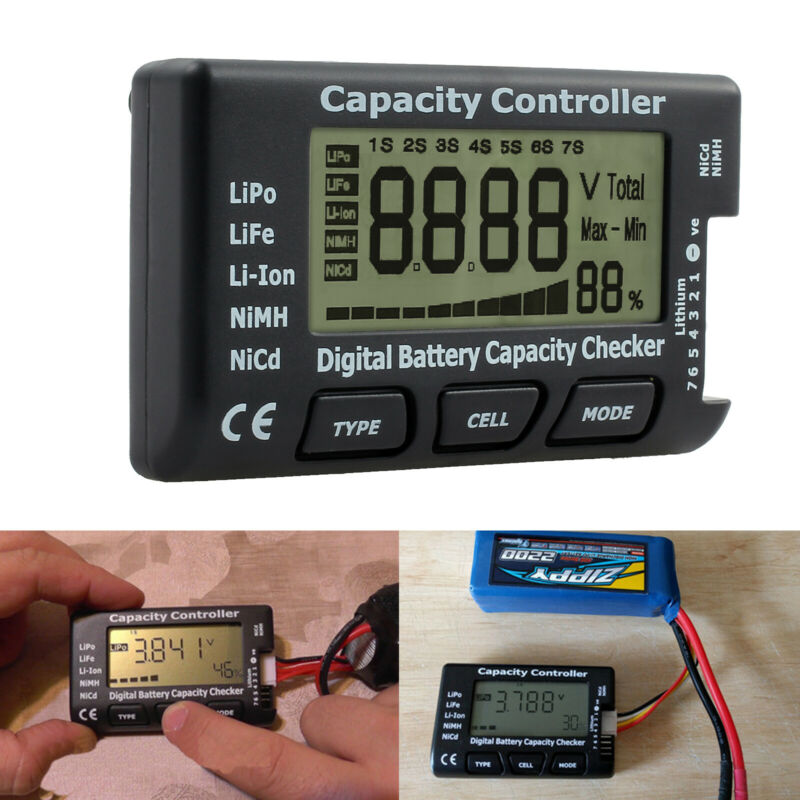 Digital LCD Battery Capacity Tester Checker Controller For Lipo LiFe Li-ion NiMH