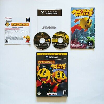 Pac-Man vs Pac-Man World 2 (Nintendo GameCube, 2003) Complete w/ Manual Tested