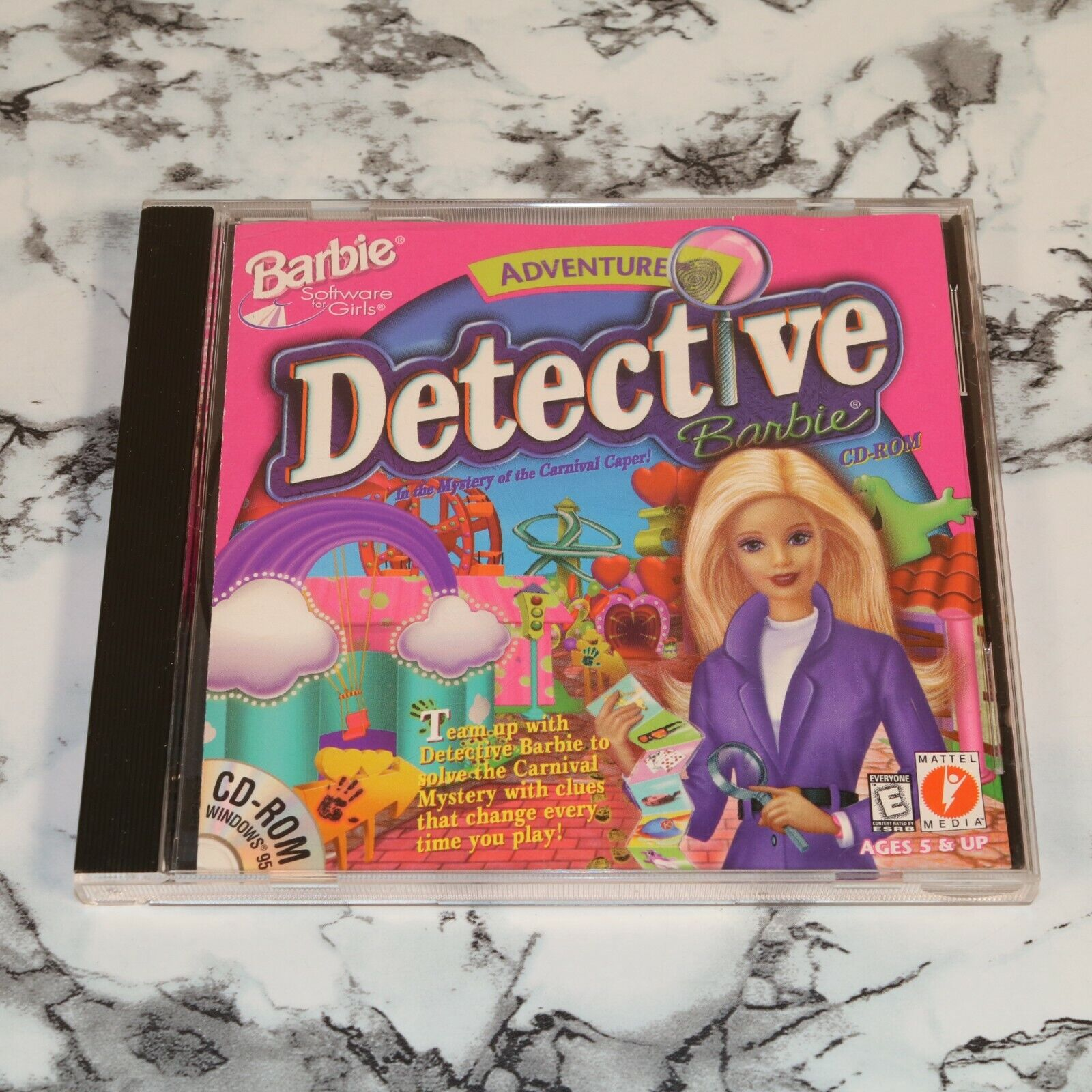 Adventure Detective Barbie - Mystery Of The Carnival Caper PC CD-ROM, 2001  - $16.91