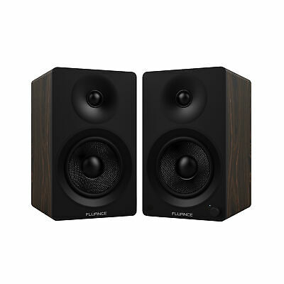"Fluance Ai40B Powered Two-Way 5"" 2.0 Bookshelf Speakers with"
