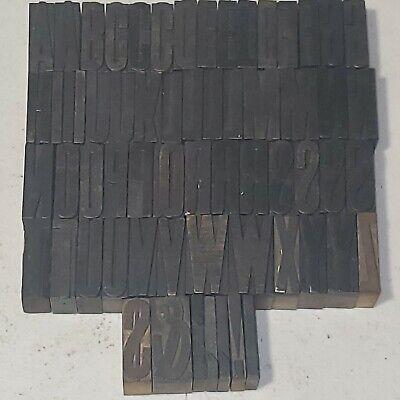 Antique Letterpress Wood Type Printing Blocks Alphabet Letters 1 58 Tall Lot1
