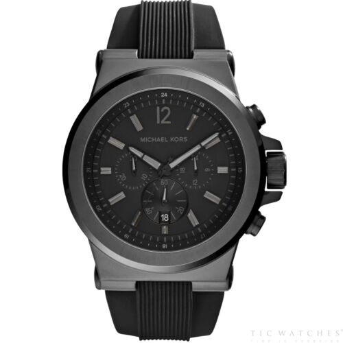 d4d2b6478827 Michael Kors Watches MK8152 Dylan Black Silicone Chronograph Men s Watch