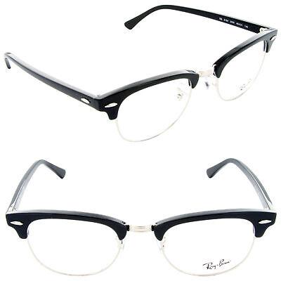 Ray Ban Clubmaster Eyeglasses RX5154 2000 49mm Shiny Black/Demo Lens (Ray-ban Rx5154 Clubmaster Eyeglasses)