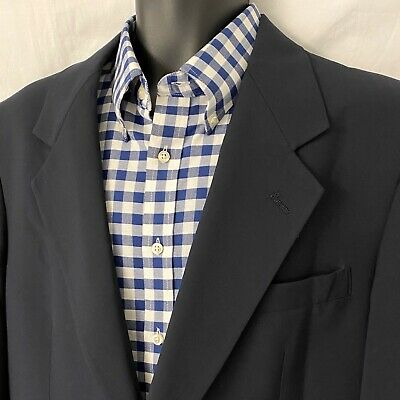 40 R Mens PALM BEACH Sport Coat Blazer of Champions Jacket * Navy
