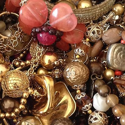2 Pound Lot Vintage Jewelry For Craft Repurpose Some Wearable Free Shipping