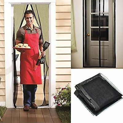 Hands Free Auto Door Mesh Screen Net Magnets Anti-bug Fly Bug No box - Bug Boxes