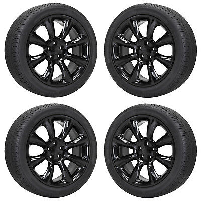 20x9 CHALLENGER CHARGER SCAT-PACK SRT BLACK WHEELS RIMS TIRES FACTORY OEM SET 4