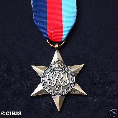 THE 1939-1945 STAR MEDAL WW2 HIGHEST BRITISH MILITARY AWARD ARMY NAVY RAF COPY.