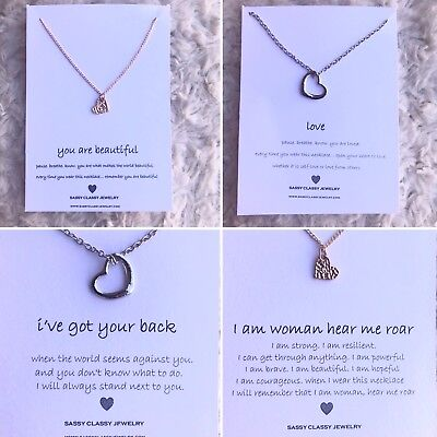 Best Friend Heart Necklace Gift Idea for Her Christmas Present Message