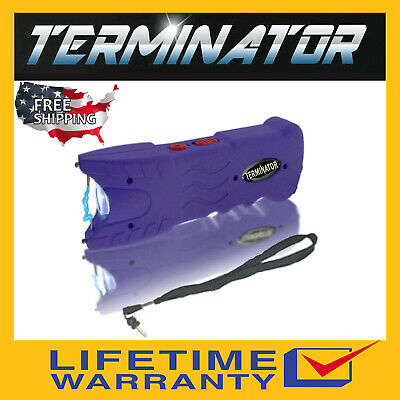 Terminator Police Stun Gun Sgt916 82bv Max Power Safety Pin Blinding Flashlight