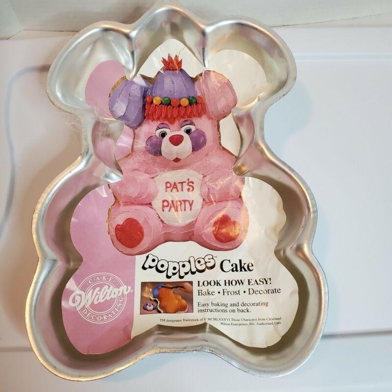 Vintage Popples Cake Pan 12X9 1985