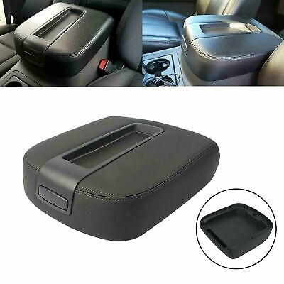 Black Armrest Lid Center Console Fit 2007-2014 Chevy Cadillac GMC Pickup Truck