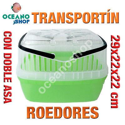 TRANSPORTIN DE ROEDORES PEQUEÑOS CON DOBLE ASA RESISTENTE 29x22x22 cm L544 5126