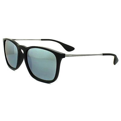 Ray-Ban Sunglasses Chris 4187 601/30 Black & Gunmetal Green Mirror