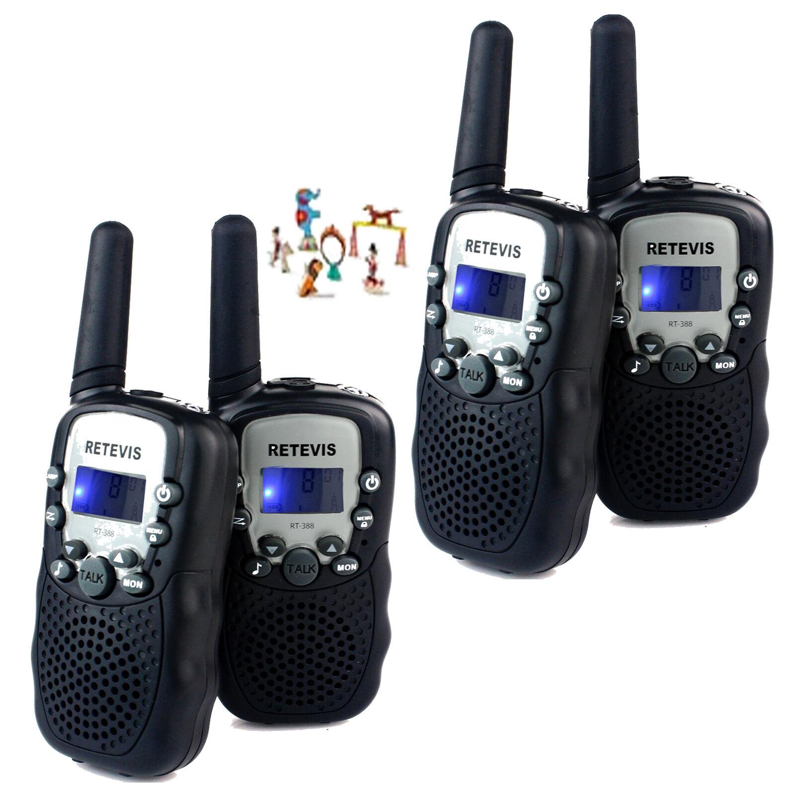 4XRetevis RT-388 kids Walkie Talkie 22CH UHF Handheld 2Way Radio(Blue)Xmas Gift