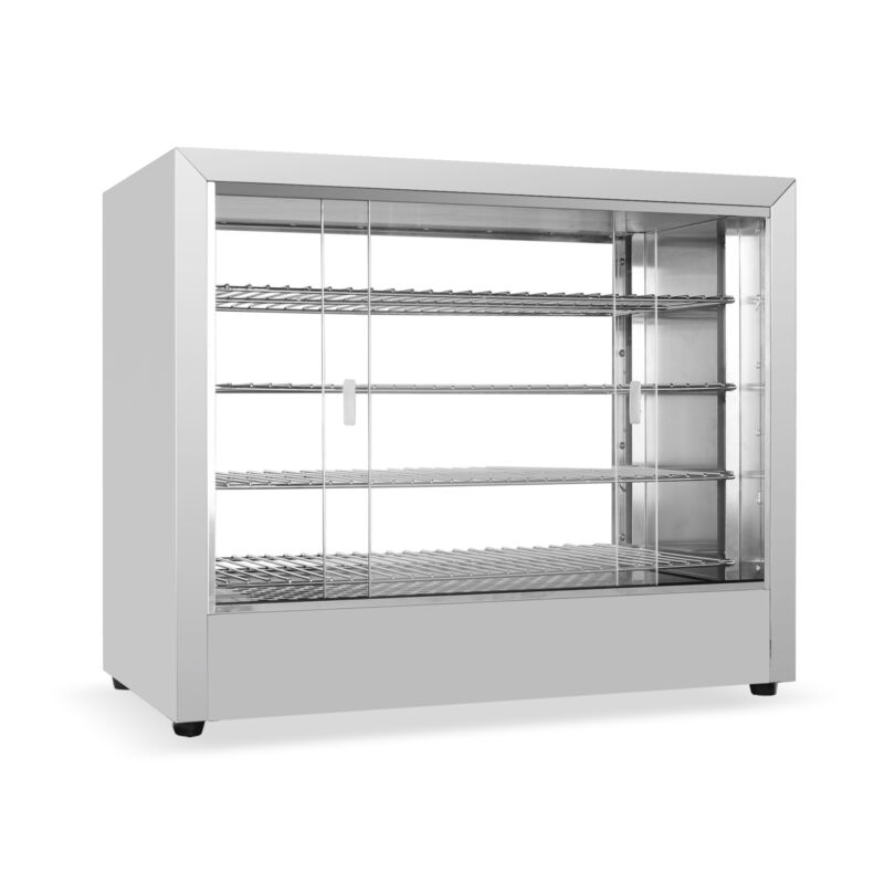 Commercial 3 Tier Countertop Hot Food Display Warmer Stainless Steel Equipment