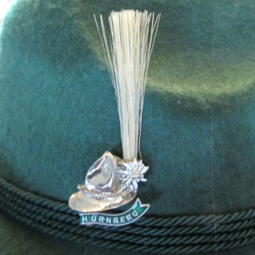Nurnberg Hat/Gamsbart Oktoberfest/Military Hat Pin