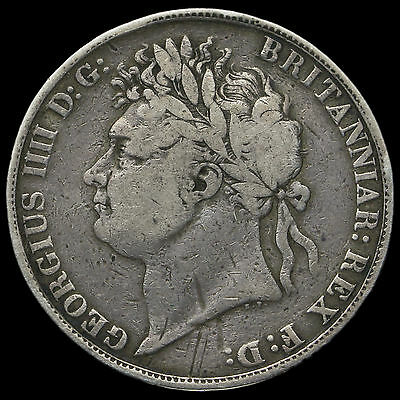 1821 George IV Milled Silver Secundo Crown