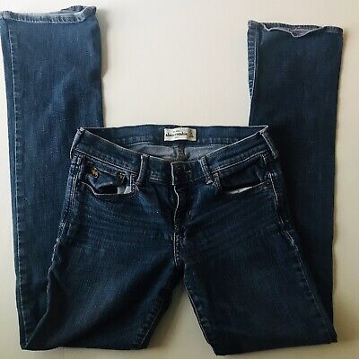 ABERCROMBIE KIDS GIRLS Stretch Jeans Size 16 Bootcut medium Wash