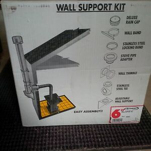 Stove pipe wall support kit