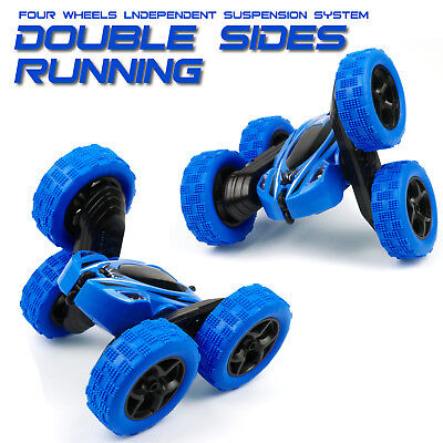 4Wd Rc Stunt Car 1 24 Monster Truck Double Sided Rotating Tumbling Rock Crawler