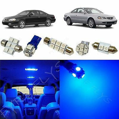 - 15x Blue LED interior lights package kit for 2001-2003 Acura CL +Tool AC1B