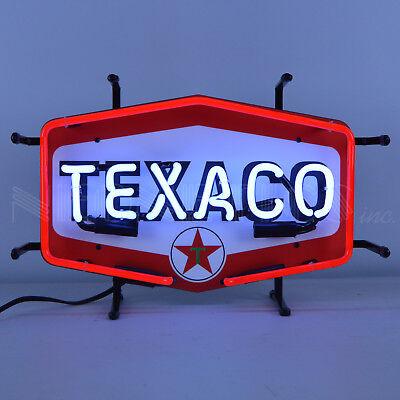 Texaco Gasoline & Motor Oil Neon Sign - Gas - The Texas Company - Hexagon
