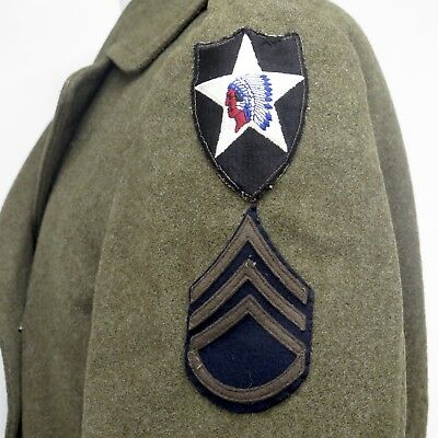 VINTAGE ORIGINAL US ARMY OFFICER UNIFORM REGULATION COAT WW2 1942 PATCH