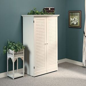 Craft Armoire - Antiqued White - Harbor View Collection (158097)