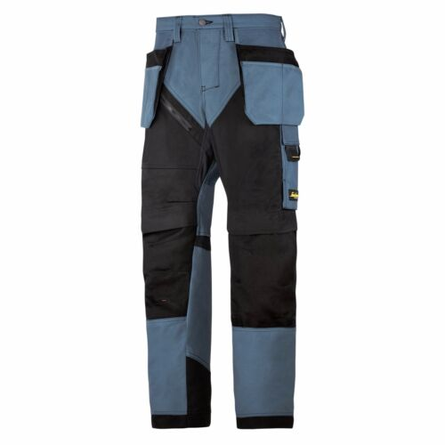 Snickers Trousers 6203 Ruffwork Holster Pocket Trousers Mens Petrol Blue Direct