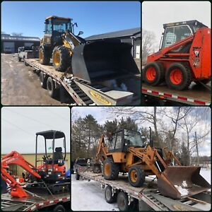 Flatbed Float Service Equipment Delivery