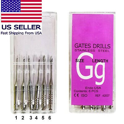 Up To 60 Pieces Gates Glidden Drills All Sizes 1to 6 Length 28 - 32 Mm 6pkg
