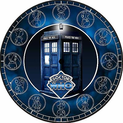 L@@K! Dr Who Tardis Clock - Gallifrey Symbols The Doctor - Silver