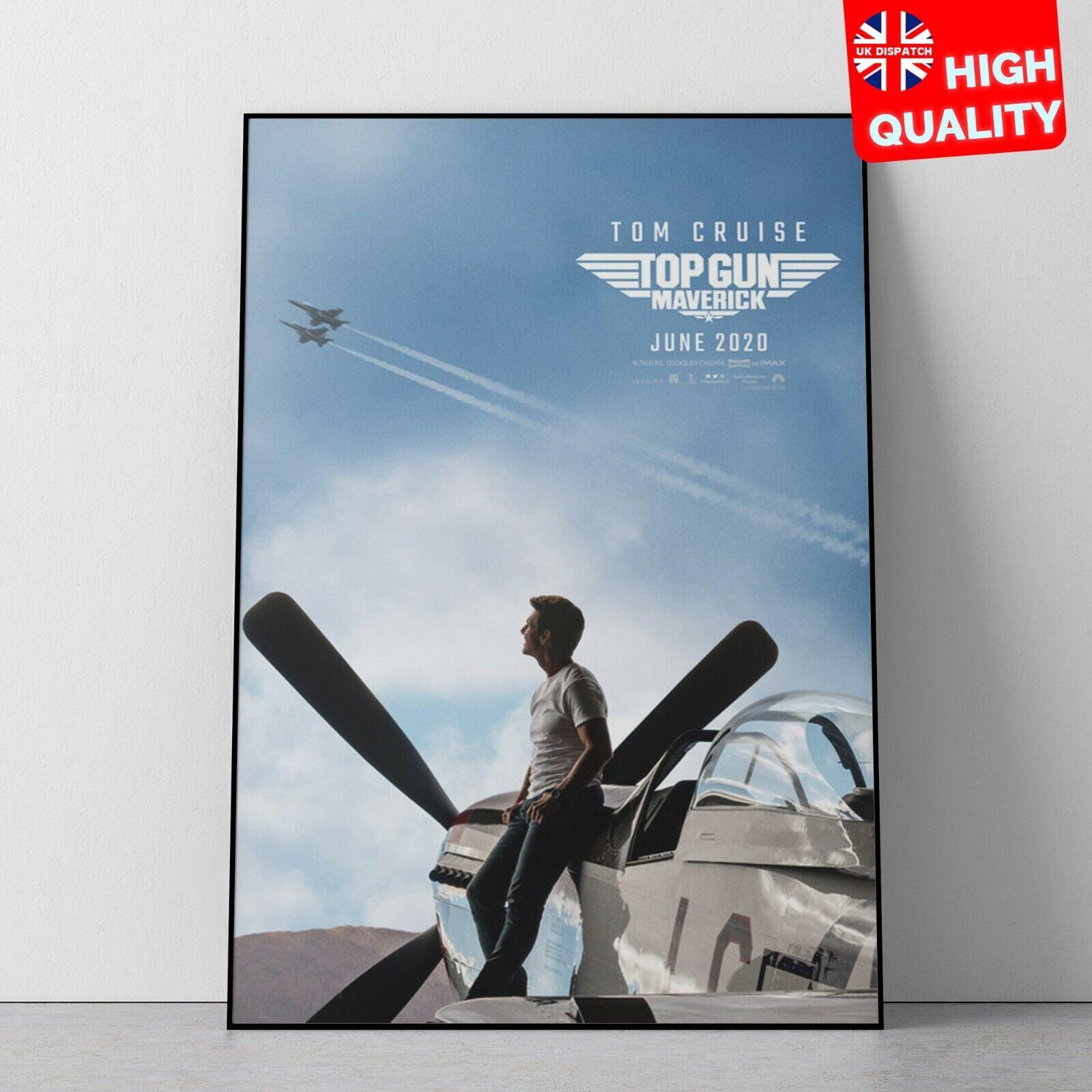Top Gun Maverick Tom Cruise Movie Poster Art Print A0 A1 A2 A3 A4 Maxi
