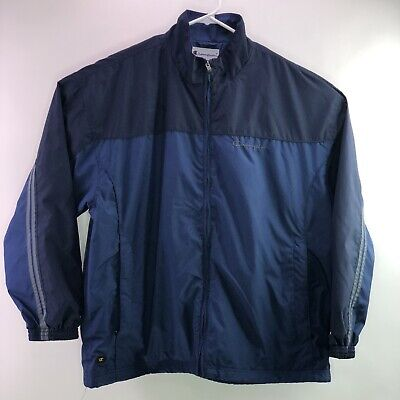 Champion Authentic Athletic Apparel Windbreaker Lined Jacket XXL Men's Blue