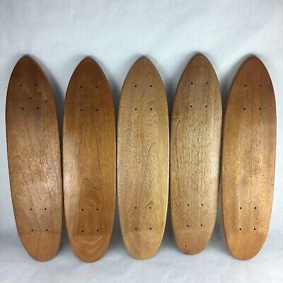 5  x Vintage Teak Oak Skateboard Cruiser Blank Deck 70's Old School Hole Pattern