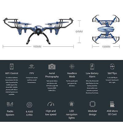 UDI U28W Wifi FPV Drone 2.4G 4CH Headless RC Quadcopter Drone with HD Camera RTF