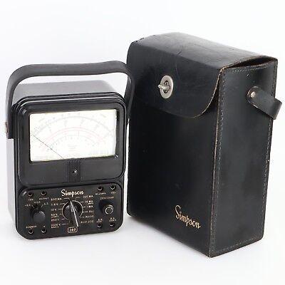- Simpson 260 Series Multi-tester Meter Analog Untested