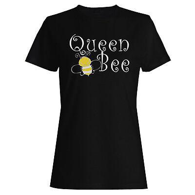 Queen Bee Yellow / Black Ladies T-shirt/Tank Top bb10f