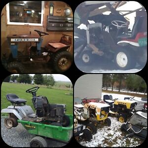 WANTED: unwanted riding mowers lawn tractors ect