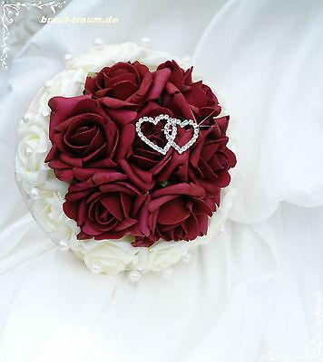 Brautstrauss aus Rosen mit Strass, Standesamt, Braut, Hochzeit, Neu