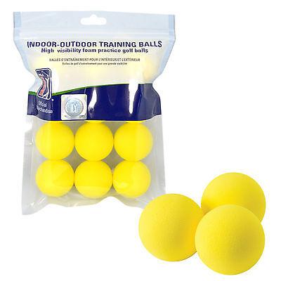 60 PGA Golf PU Foam Golf Balls New Dozen Practice Yellow Sponge Free Delivery
