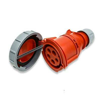 PCE 32A 3P + N + E 400V. 3 Fase Rojo Cable...