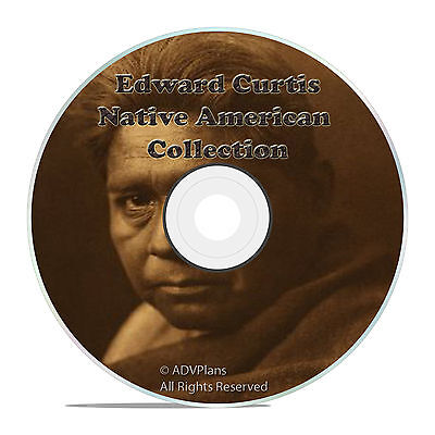 EDWARD S. CURTIS, NATIVE AMERICAN INDIAN ART CD, THOUSANDS OF PICTURES ON CD