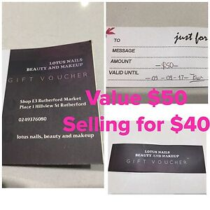 Nails or Makeup Gift Voucher- Lotus @ Rutherford Oakhampton Heights Maitland Area Preview